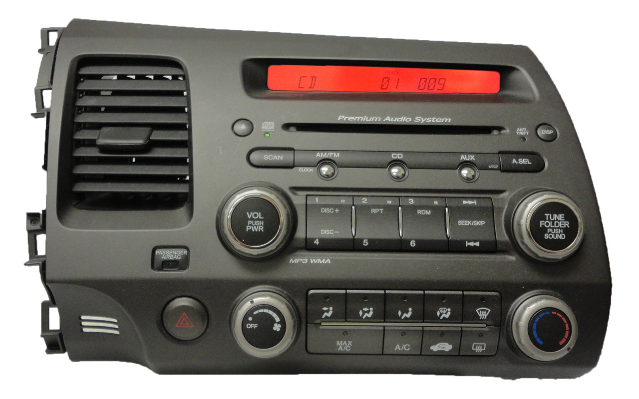 4tc7 06 honda civic audio system radio stereo mp3 cd player. Black Bedroom Furniture Sets. Home Design Ideas