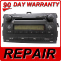 Repair service toyota corolla 6 disc changer cd player fix oem radio