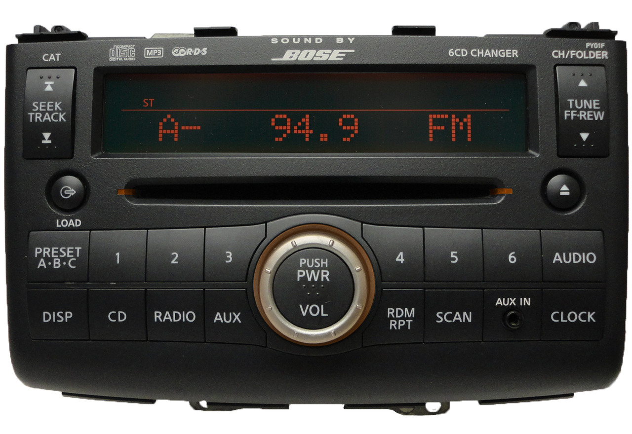 09 08 10 nissan rogue bose radio mp3 aux in 6 disc cd. Black Bedroom Furniture Sets. Home Design Ideas