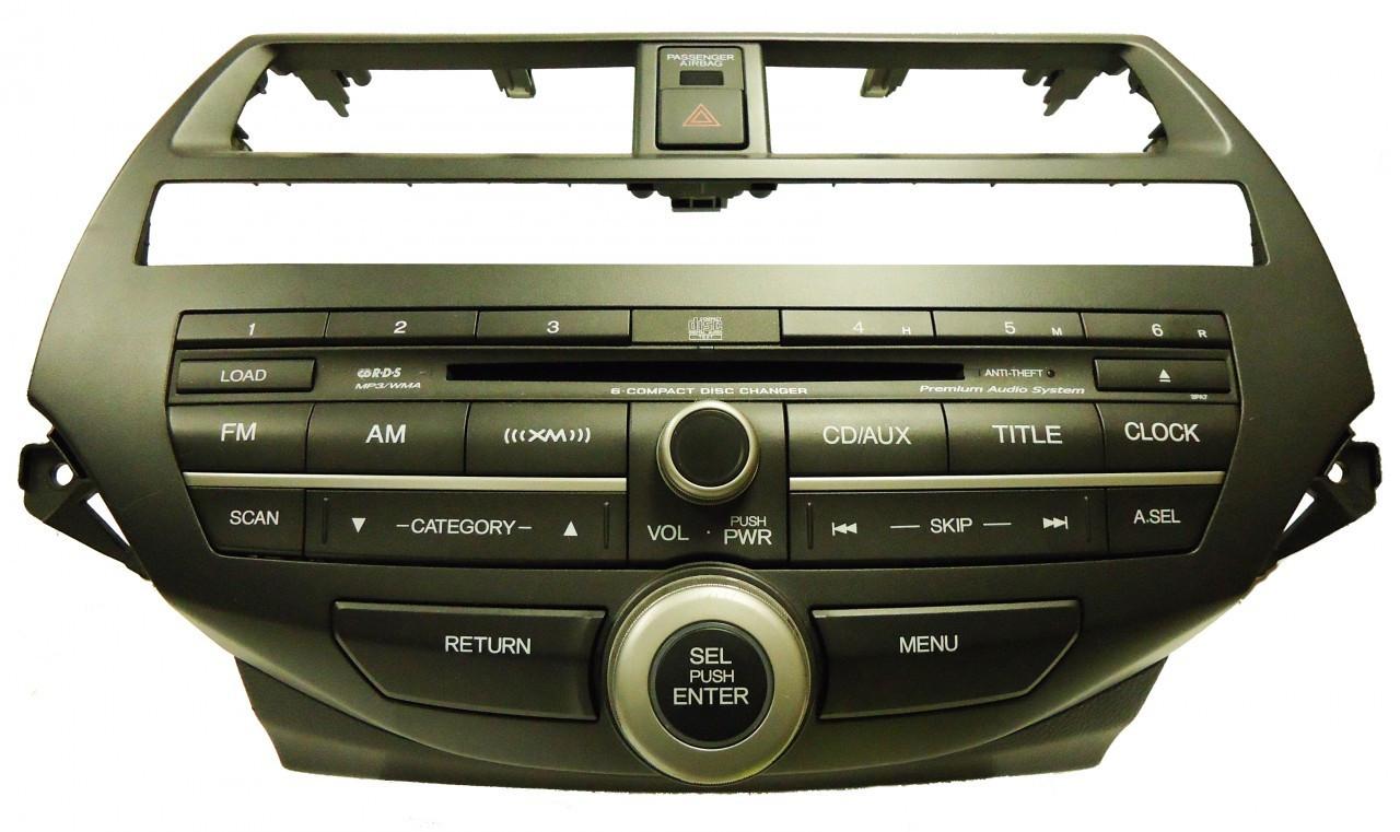 3pae 2008 12 Accord Radio Aux Xm Mp3 6 Disc Cd Changer