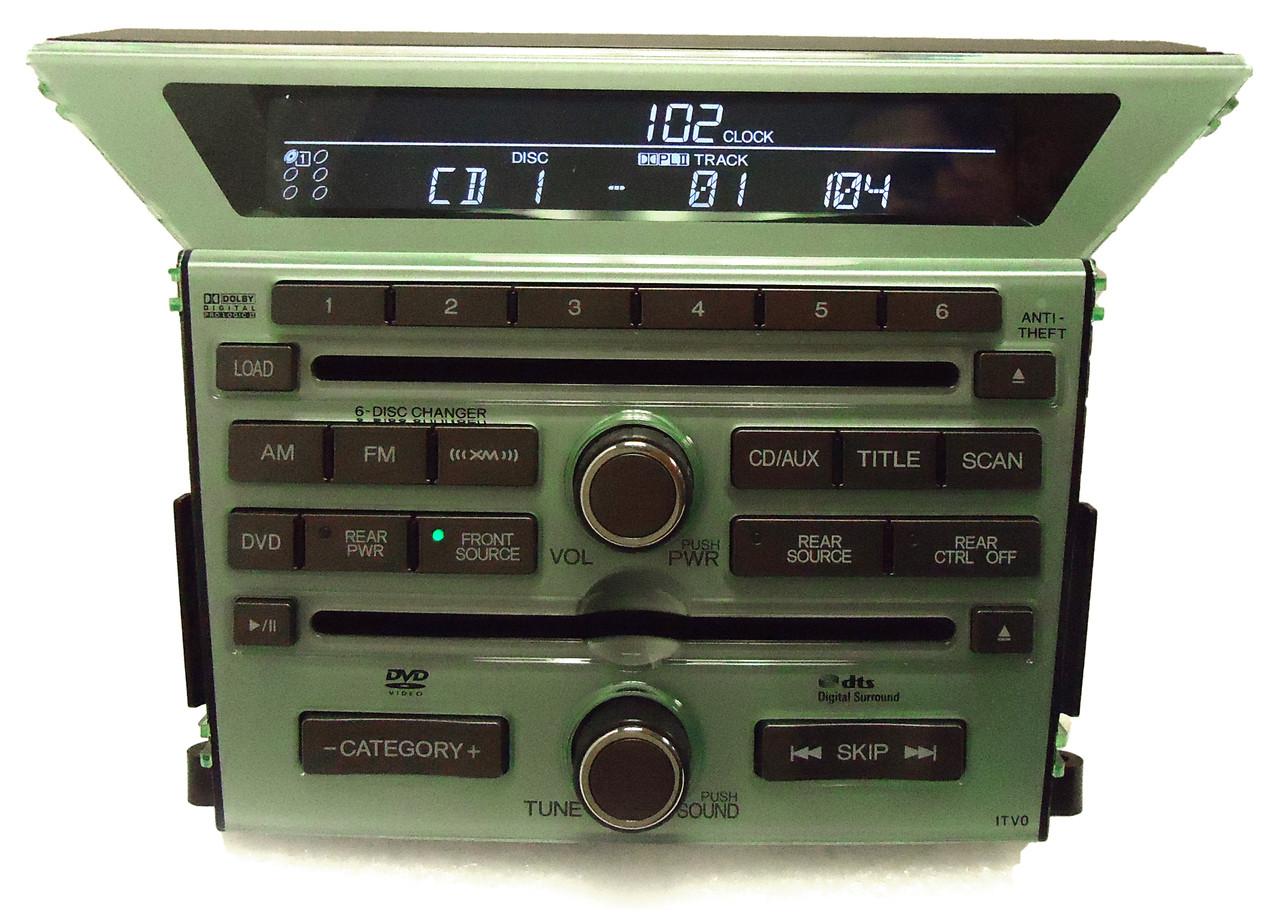 Honda Pilot Am Fm Xm Satellite Radio 6 Disc Changer Mp3 Cd Dvd Player 1tv0 Oem Ebay