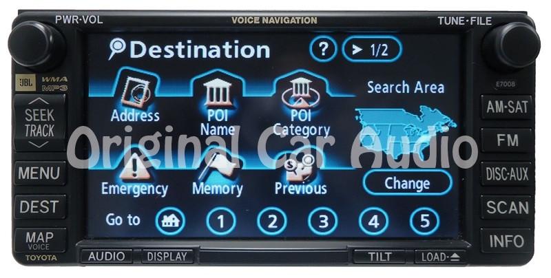 toyota e7008 navigation