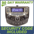 05 06 07 HONDA ACCORD OEM Radio Stereo SAT XM Aux 6 Disc Changer CD Player Dual Zone Auto Climate Temp Controls 7BO1