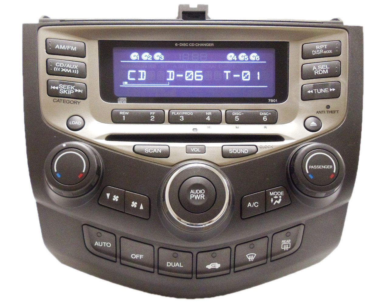 05 06 07 honda accord radio xm aux 6 disc changer cd. Black Bedroom Furniture Sets. Home Design Ideas