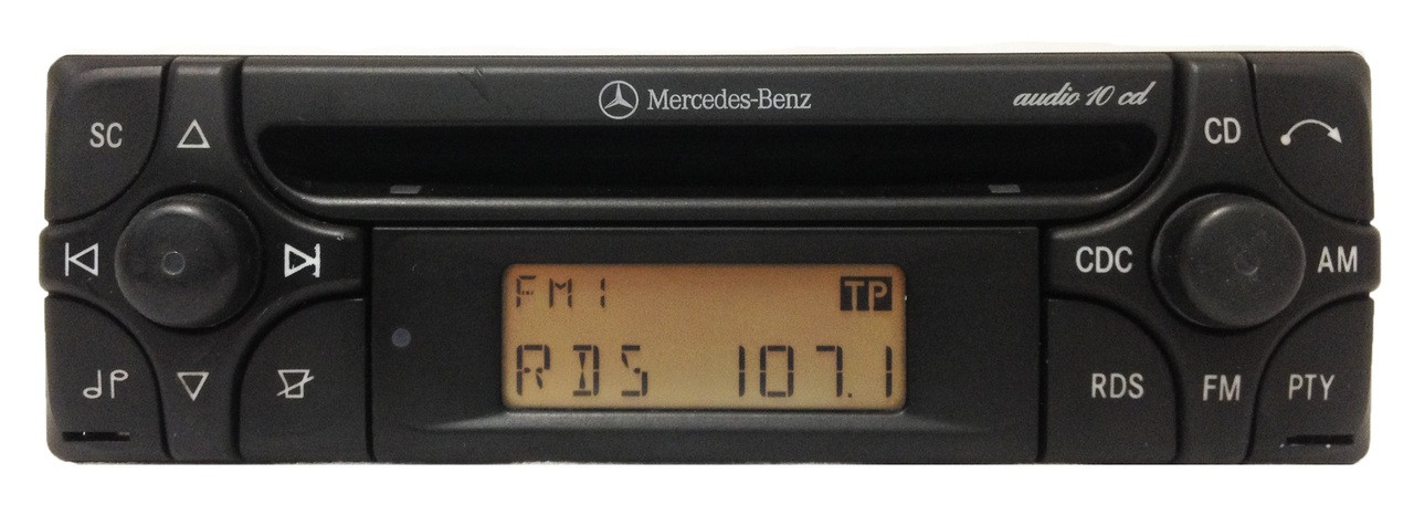 99 00 01 02 03 mercedes benz oem am fm radio stereo cd for Mercedes benz radio code
