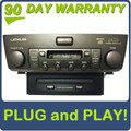 01 02 03 04 05 06 LEXUS LS430 Radio Cassette Tape Player 6 Disc Changer CD Player Stereo P6814 OEM 86120-50590 2001 2002 2003 2004