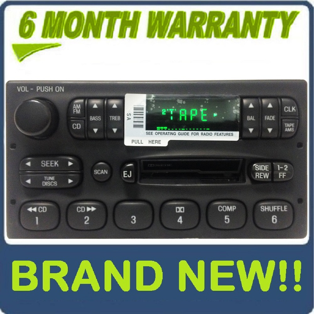 brand new 1998 2003 ford ranger f150 e150 oem radio tape player. Black Bedroom Furniture Sets. Home Design Ideas