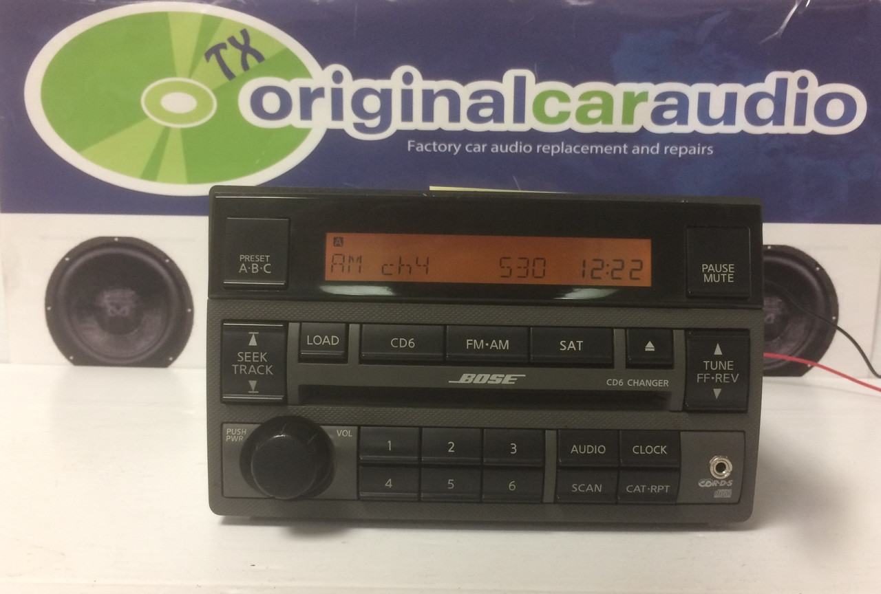 2005 2006 Nissan Altima Bose Radio 6 Cd Player Bose With Aux Port Ipod