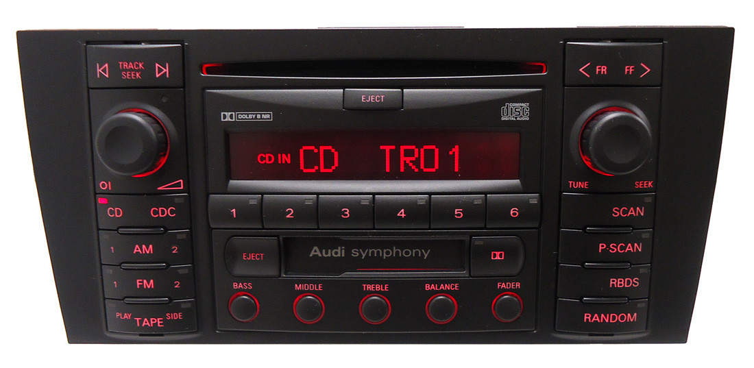 new 2000 2001 audi a6 s6 s 6 allroad radio cd player bose. Black Bedroom Furniture Sets. Home Design Ideas