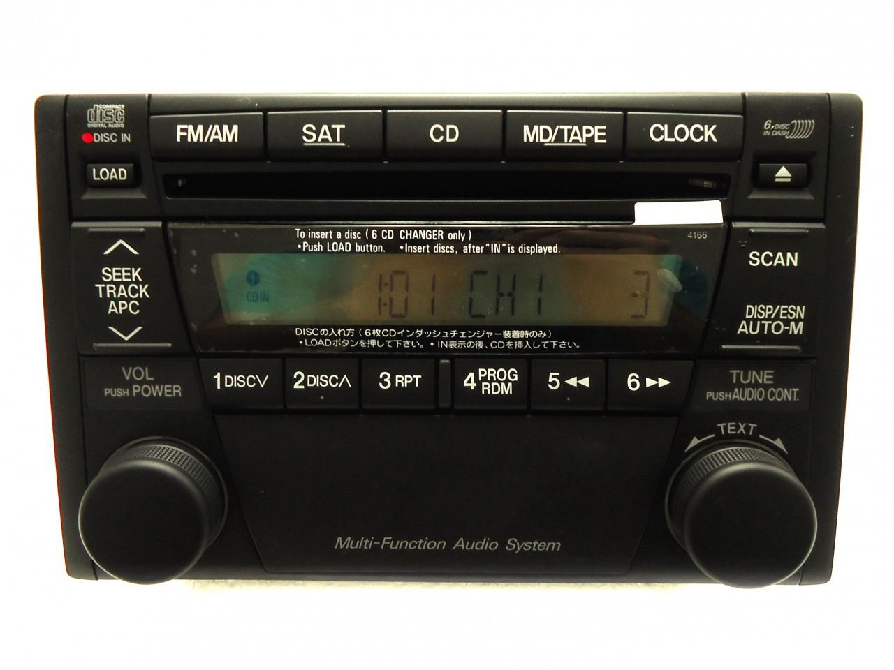 4166 01 07 mazda tribute millenia radio stereo 6 disc changer
