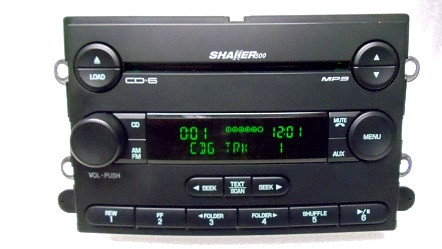 07 08 09 ford mustang shaker 500 radio stereo 6 disc. Black Bedroom Furniture Sets. Home Design Ideas