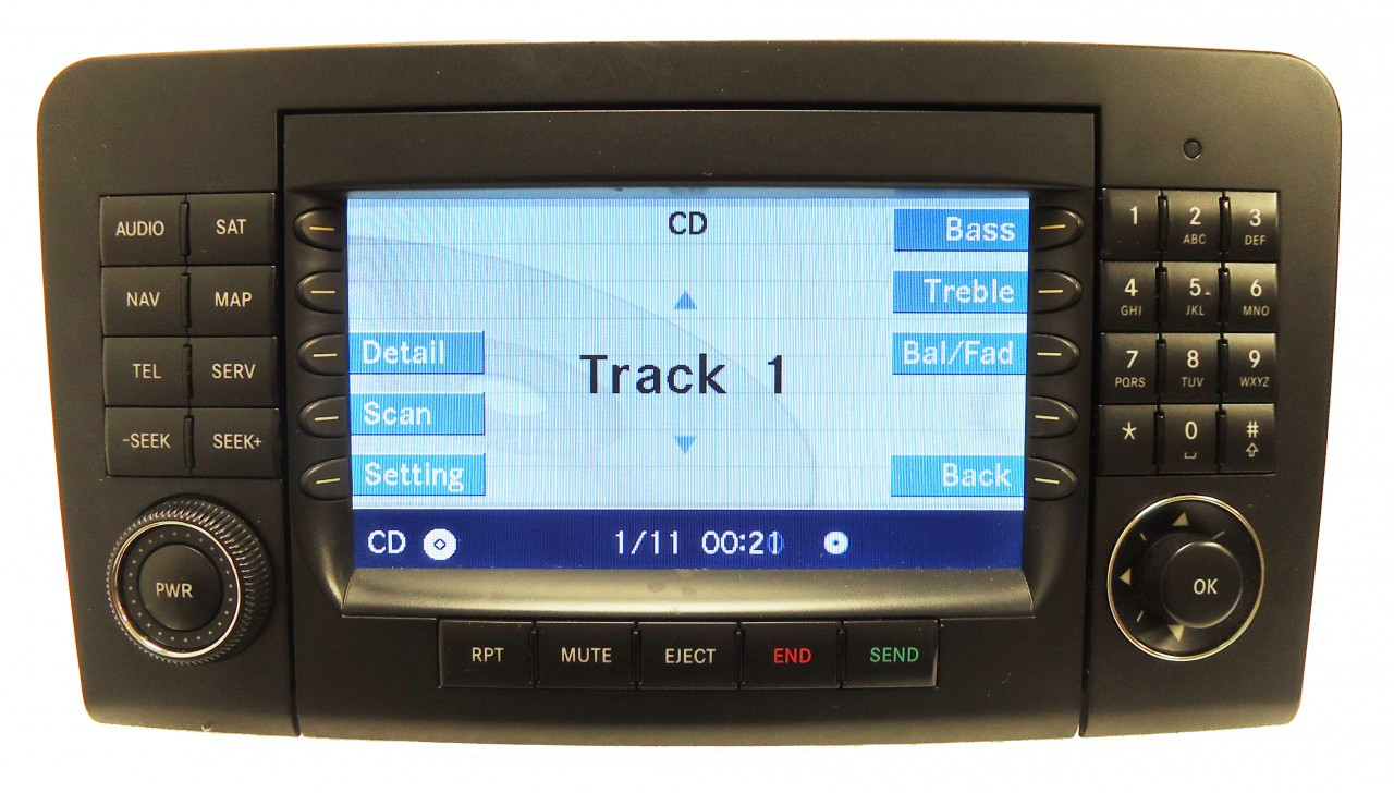 06 07 08 mercedes ml gl class navigation gps radio stereo for Mercedes benz satellite radio