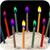 Colored Flame Candles