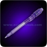 Invisible Ink Pen With Blacklight