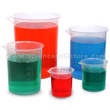 Set of 5 Plastic Beakers