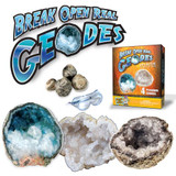 Crack Open 4 Real Geodes - Starter Rock Science Kit