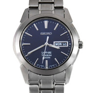 Seiko Titanium WR100m Sapphire Crystal Analog Dress Watch SGG729P1