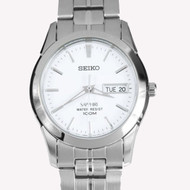 Seiko Quartz WR100m Sapphire Crystal Analog Mens Sports Watch SGG713P1