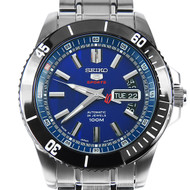 SRP425J1 Seiko 5 Day and Date Blue Dial Automatic Mens Sports Watch