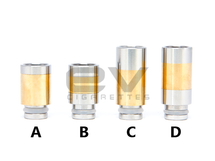 Brass Two-Tone Drip Tips for RBAs / 510 / 808D-1 / 901