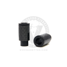 Carbon Fiber Delrin Friction 510 Wide Bore Drip Tip - 12mm (No O-Ring)