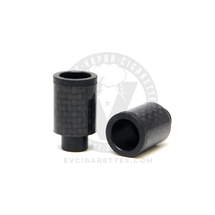 Carbon Fiber Delrin Friction 510 Wide Bore Drip Tip - 14mm (No O-Ring)