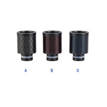 Carbon Fiber Delrin Wide Bore 510 Drip Tip Mouthpiece - 14mm