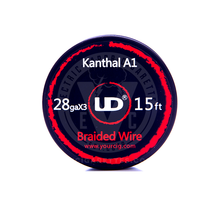 Kanthal A-1 Resistance Wire Coil - Braided (by UD)