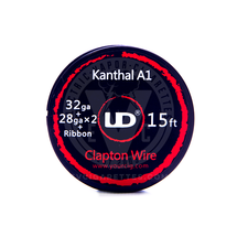 Kanthal A-1 Resistance Wire Coil - Fused Ribbon Clapton Wire (by UD)