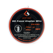 Fused Clapton SS316 Tape Wire Spool by GeekVape