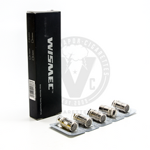 These replacement coils from Wismec are compatible with the Amor, RX75, & Reux Mini sub-ohm tanks.