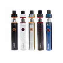 The Smok Stick V8 Baby Kit is available in a range of colors and finishes, including Black, White, Bare Stainless Steel, Gunmetal, and Anodized Blue.