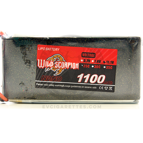 The Wild Scorpion Nano LiPo Battery is an 3S 1100mAh battery that will not only add more battery life to your Oni box mod, but also increase the wattage limit!