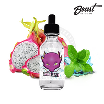 Beast E-Liquid's DRGN SPIT is a mystical mash-up of juicy dragon fruit, tart kiwis, sweet mint, and cooling menthol.