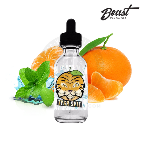 TYGR SPIT by Beast E-Liquids is a beastly combination of mint, menthol, and succulent oranges.