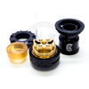 The Reload RTA's uniquely postless gold-plated build deck not only promotes efficient use of build space, but also excellent flavor transportation and conductivity.