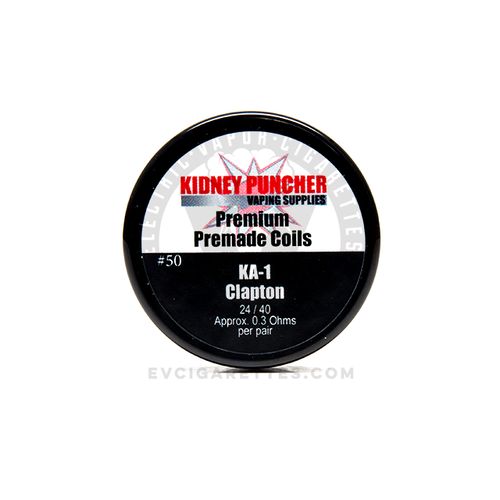 The Kidney Puncher Premade Kanthal A-1 (KA-1) Clapton Coils