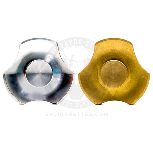 The VC-EDC Mini Triton Fidget Spinner by Vaperz Cloud is available in Stainless Steel and Brass
