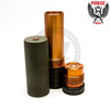 The Grenade OD Edition Mech MOD by Purge Mods comes in a military-esque shade of Olive Drab—the rest of the device has a bare finish to expose the pure copper material.