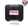 Each Purge Mods mechanical mod comes in a protective hard-shelled carrying case.