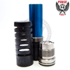 The stylish cutouts of the Maelstrom Midnight Edition Mech MOD by Purge Mods are as functional as they are attention-grabbing.