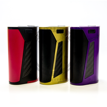The Smok GX350 MOD is available in Red, Gold, and Purple.
