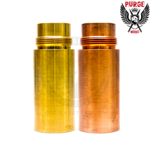Available in C145 Tellurium Copper or 464 Grade Naval Brass, the Jury Tube Extension attenuates the Judge 26650 Mech MOD's exceptional performance.