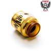 The Carnage's wide bore ULTEM drip tip is very heat-resistant and fits all other 810 atomizers.