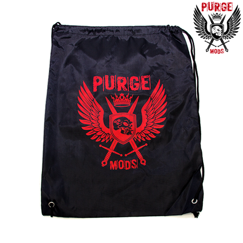 This drawstring bag from Purge Mods is the perfect solution to hands filled with vape supplies.