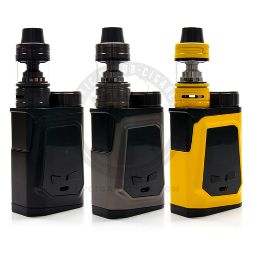 The iJoy CAPO 100 MOD with the Captain Mini Sub-Ohm Tank is available in Black, Yellow, or Gunmetal.