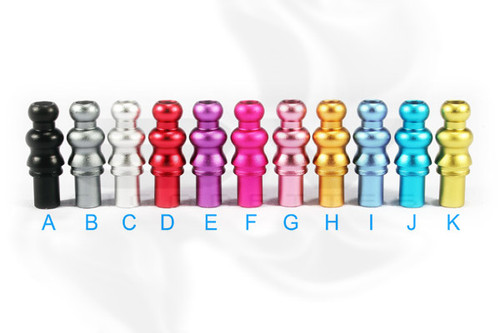 Anodized Aluminum Drip Tips for CE4 | CE6 | Vision Stardust Clearomizers