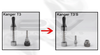 Kanger T3 & T3S eGo Bottom Coil Clearomizer differences (T3 Clearomizer on right is not included and is shown for illustration purposes)