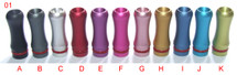 Round/Curvy Anodized Aluminum Drip Tips for 510/808/901