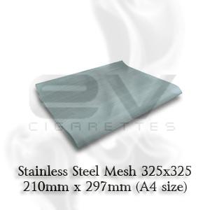 Stainless Steel Mesh 325 | 210mm x 297mm Price includes one (1) 210mm x 297mm size sheet (measurement may not approximate)